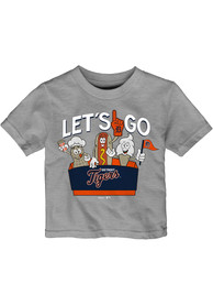 Detroit Tigers Infant Snack Box T-Shirt - Grey