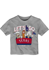 Texas Rangers Infant Snack Box T-Shirt - Grey