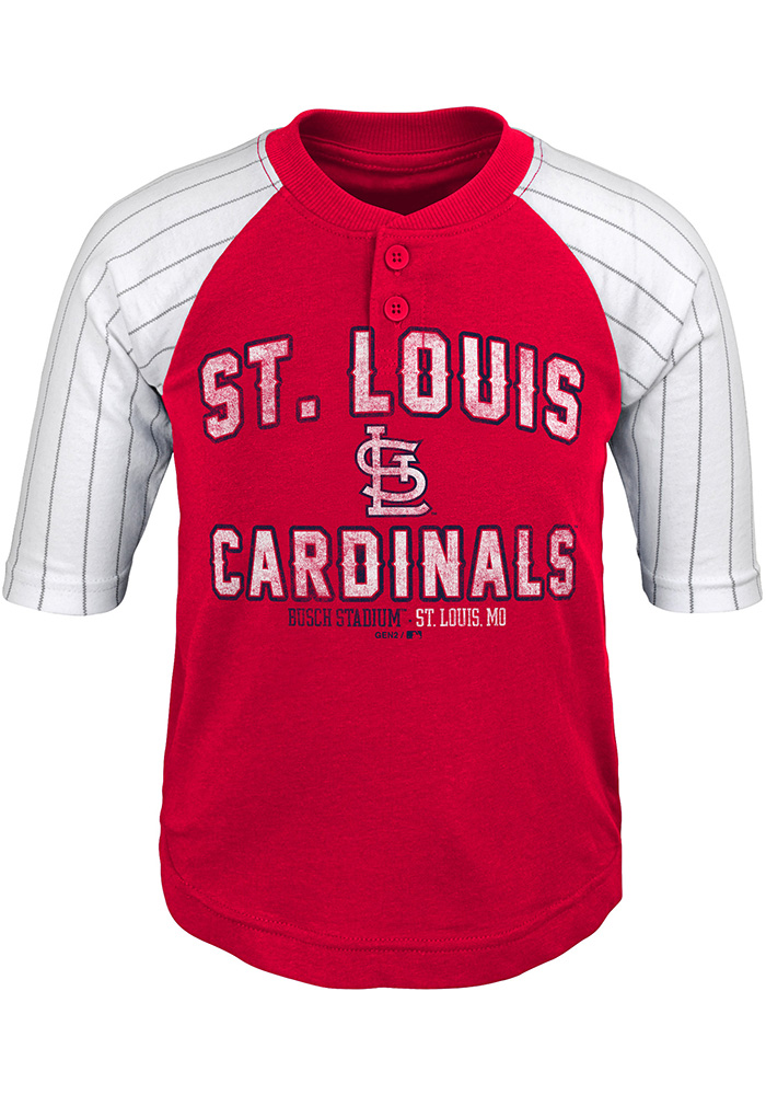 St Louis Cardinals Boys Red The Original Long Sleeve Fashion T-Shirt - Image 1