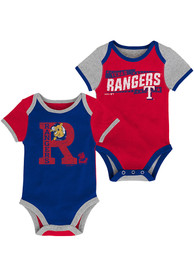 Texas Rangers Baby Red Baseball ABCs One Piece