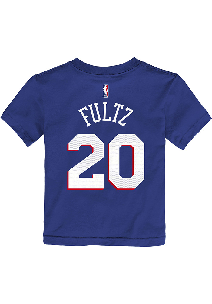 Markelle Fultz Philadelphia 76ers Toddler Blue Player Short Sleeve Player T Shirt - Image 1
