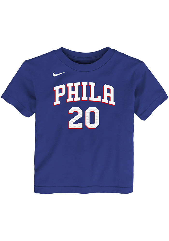Markelle Fultz Philadelphia 76ers Toddler Blue Player Short Sleeve Player T Shirt - Image 2