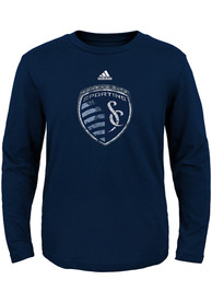 Sporting Kansas City Baby Navy Blue Distressed Primary T-Shirt