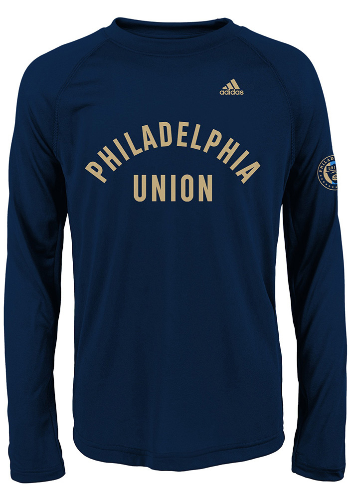 huge discount 249d3 534ca Philadelphia Union Youth Navy Blue Squared Ring Long Sleeve T-Shirt