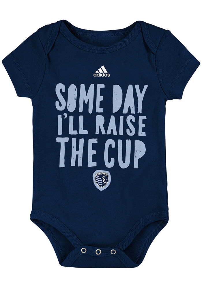 Sporting Kansas City Baby Navy Blue The Cup Short Sleeve One Piece - Image 1