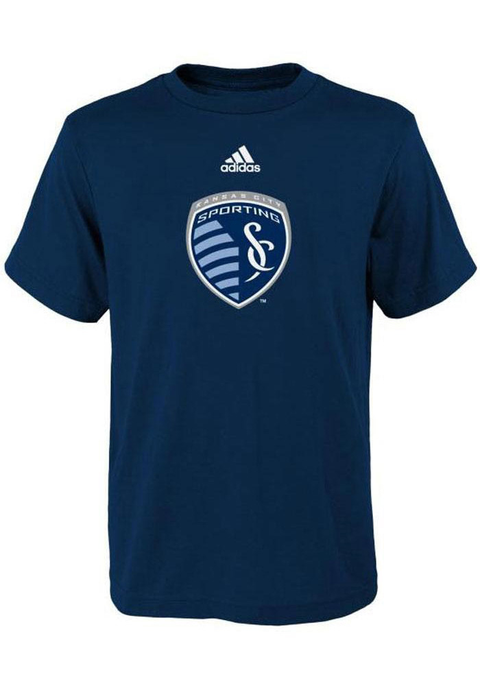 Sporting Kansas City Infant Primary Short Sleeve T-Shirt Navy Blue - Image 1