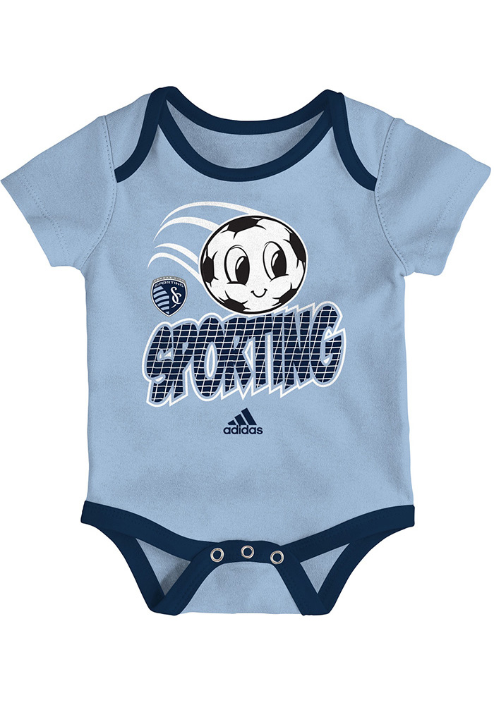Sporting Kansas City Baby Light Blue Hat Trick One Piece - Image 2