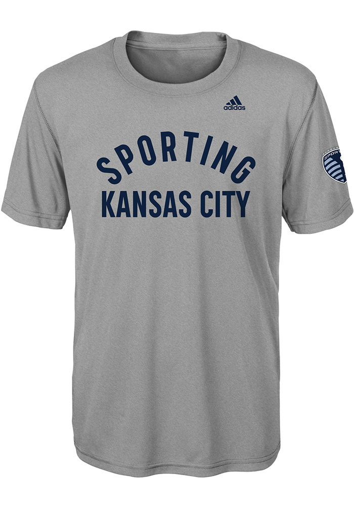 Sporting Kansas City Youth Grey Squared Ring Short Sleeve T-Shirt - Image 1