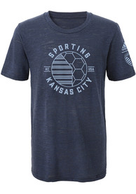 Sporting Kansas City Youth Navy Blue Playmaker Fashion Tee