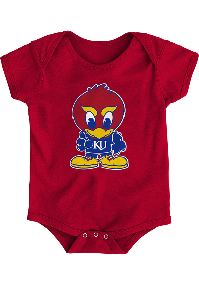 Kansas Jayhawks Baby Red Baby Jay One Piece