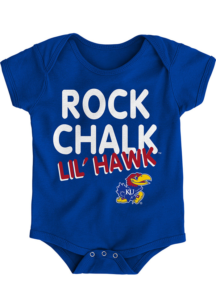 Kansas Jayhawks Baby Blue Lil Hawk One Piece