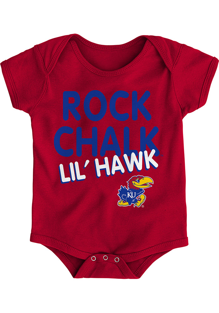 Kansas Jayhawks Baby Red Lil Hawk One Piece