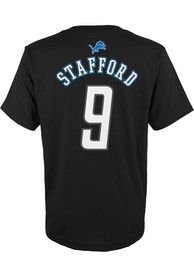 Matthew Stafford Detroit Lions Youth Mainliner T-Shirt - Black