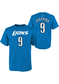 Matthew Stafford Detroit Lions Boys Outer Stuff Player T-Shirt - Blue