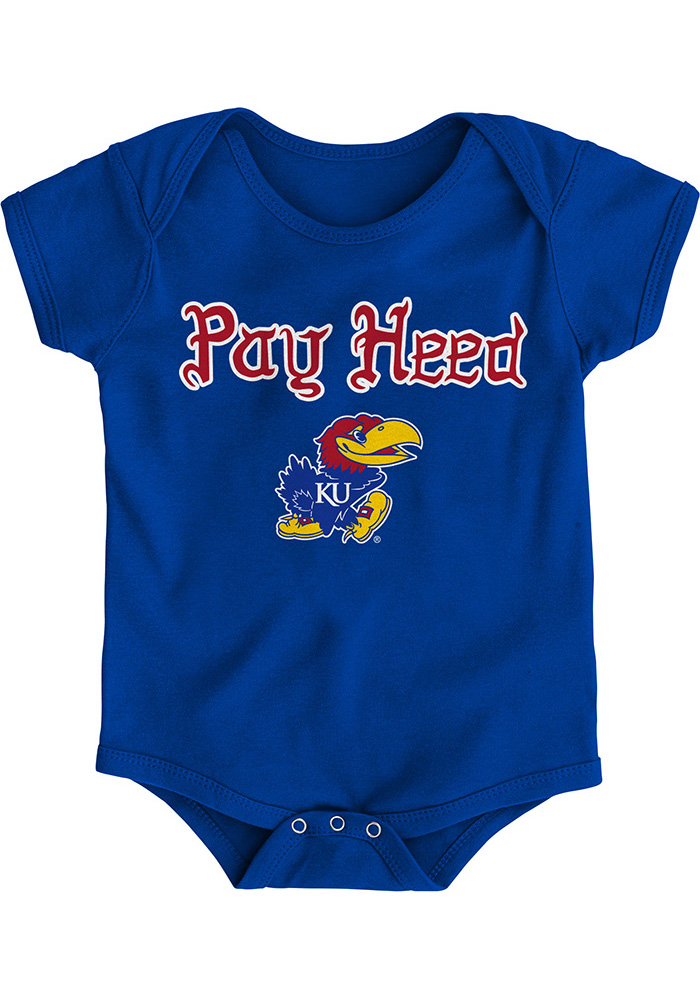 Kansas Jayhawks Baby Blue Pay Heed One Piece