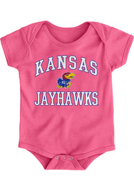 Kansas Jayhawks Baby Pink #1 Design One Piece