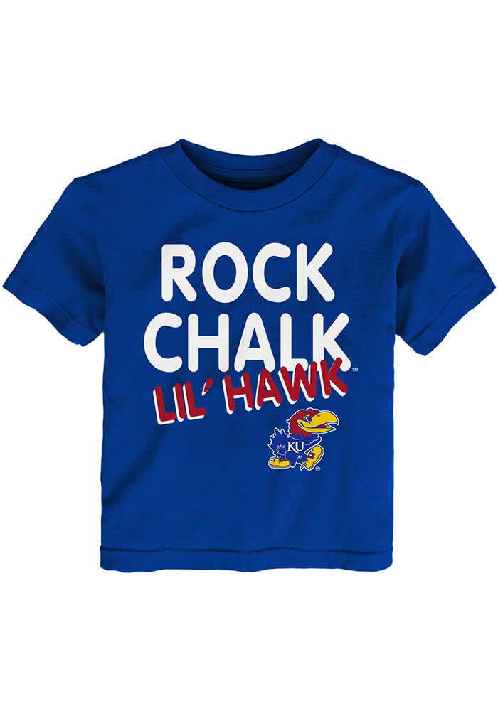 Kansas Jayhawks Toddler Blue Lil Hawk Short Sleeve T-Shirt - Image 1