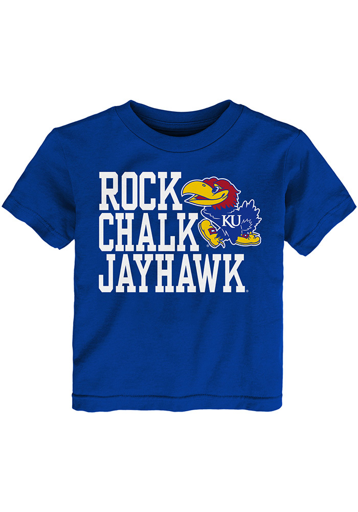 Kansas Jayhawks Toddler Blue Rock Chalk Short Sleeve T-Shirt - Image 1