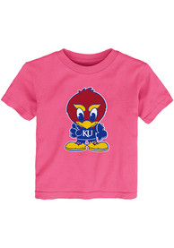 Kansas Jayhawks Toddler Girls Pink Baby Jay T-Shirt