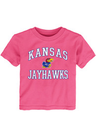 Kansas Jayhawks Toddler Girls Pink #1 Design T-Shirt