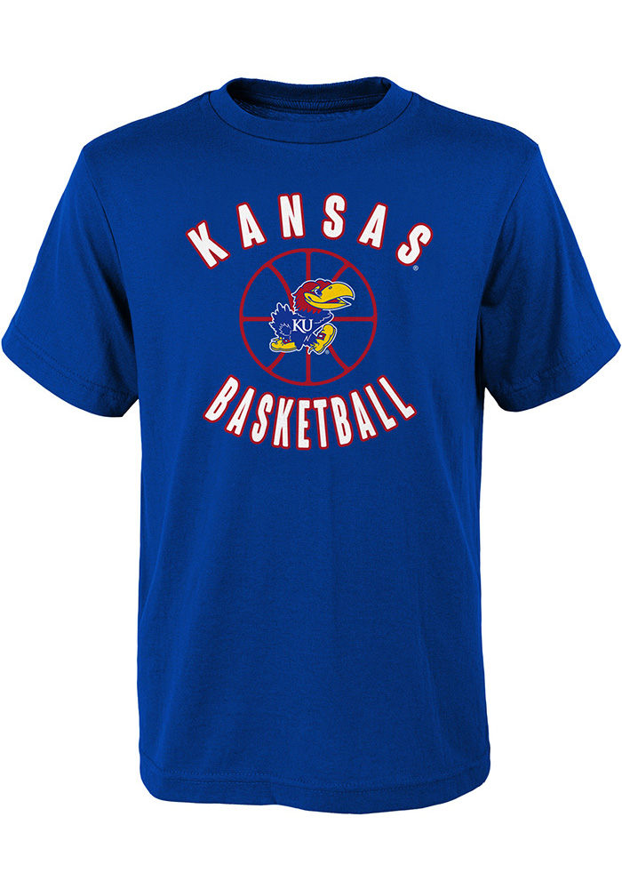 Kansas Jayhawks Youth Blue Little Baller T-Shirt