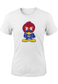 Kansas Jayhawks Girls White Baby Jay T-Shirt