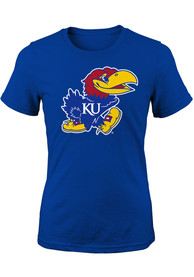 Kansas Jayhawks Girls Blue Jayhawk T-Shirt