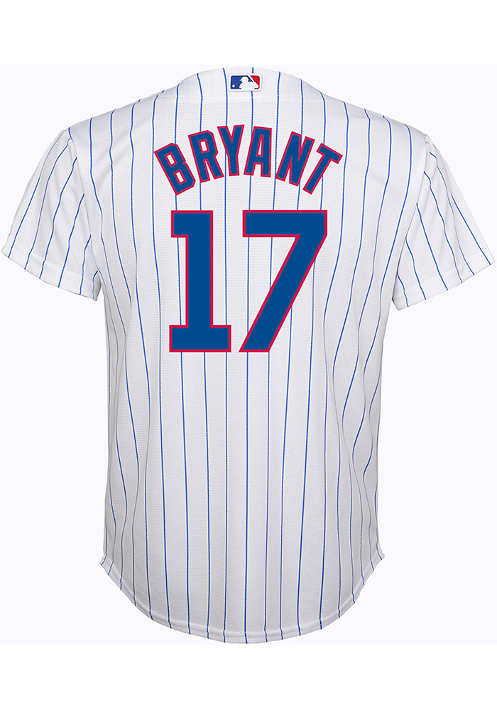 1d0c69fb9 Kris Bryant Outer Stuff Chicago Cubs Youth White Cool Base Replica Baseball  Jersey