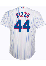 69a79c06301 Anthony Rizzo Chicago Cubs Youth White Cool Base Replica Baseball Jersey