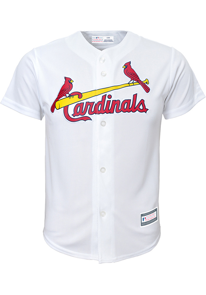 St Louis Cardinals Youth White Cool Base Replica Jersey - Image 1