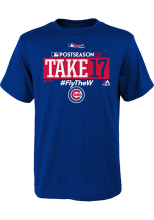 Chicago Cubs Youth Blue Take October T-Shirt