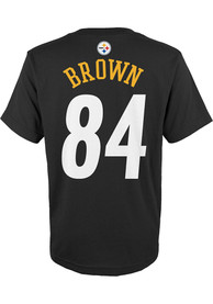 Antonio Brown Pittsburgh Steelers Youth Mainliner T-Shirt - Black