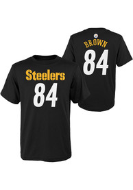 Antonio Brown Pittsburgh Steelers Boys Outer Stuff Player T-Shirt - Black