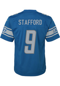 Matthew Stafford Detroit Lions Youth Nike Replica Game Football Jersey - Blue