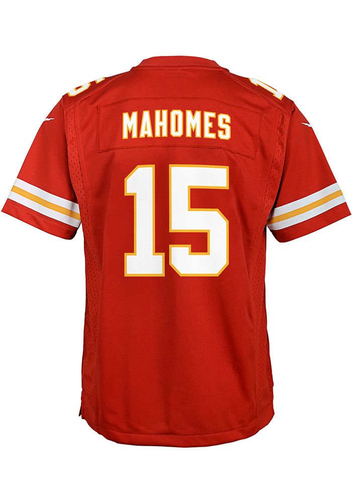 Patrick Mahomes Outer Stuff Kansas City Chiefs Youth Red Replica Game Football Jersey - Image 1