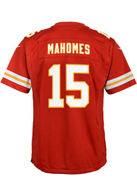 Patrick Mahomes Kansas City Chiefs Youth Nike Replica Game Football Jersey - Red