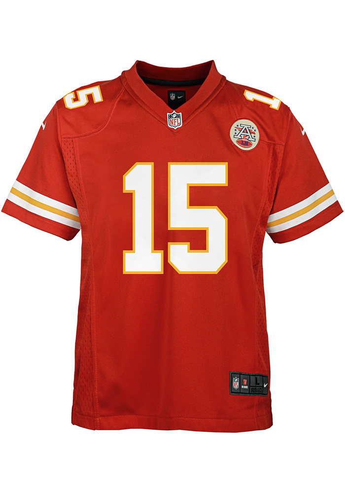 Patrick Mahomes Outer Stuff Kansas City Chiefs Youth Red Replica Game Football Jersey - Image 2