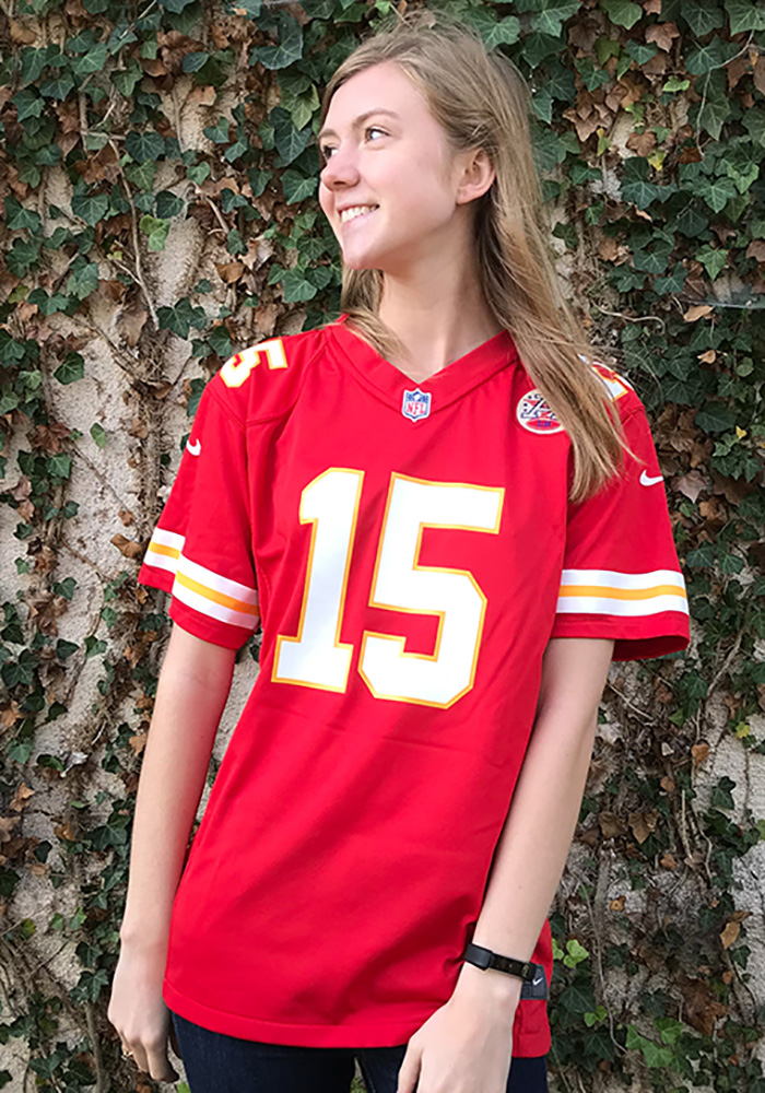 Patrick Mahomes Outer Stuff Kansas City Chiefs Youth Red Replica Game Football Jersey - Image 3
