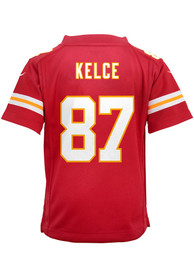 Travis Kelce Kansas City Chiefs Boys Nike Replica Football Jersey - Red