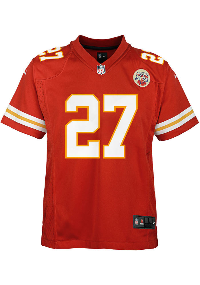Kareem Hunt Kansas City Chiefs Youth Red Gameday Football Jersey - Image 2