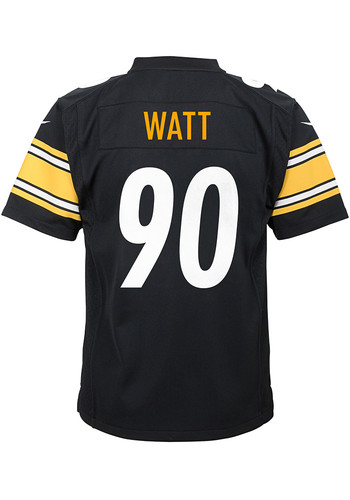 competitive price d2b82 3803b TJ Watt Pittsburgh Steelers Youth Replica Game Football Jersey - Black -  13347661