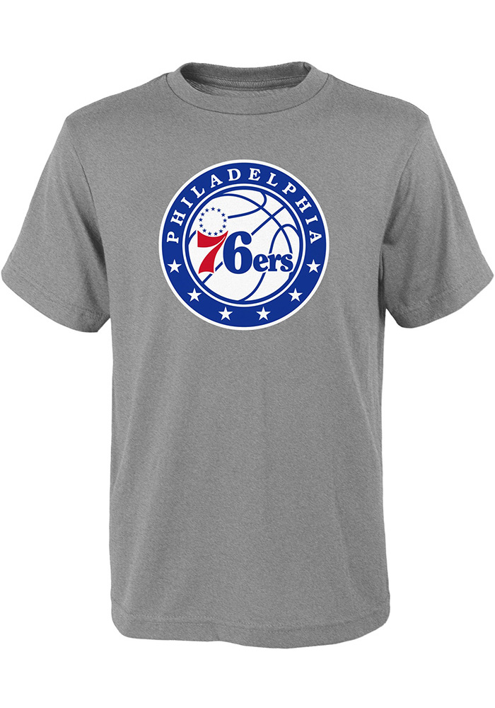df11de81f Philadelphia 76ers Youth Grey Logo T-Shirt