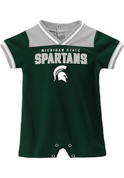 Michigan State Spartans Baby Green Game-Day Short Sleeve One Piece