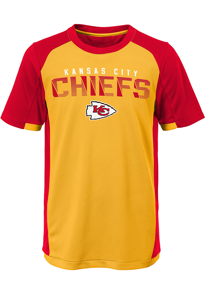 Kansas City Chiefs Youth Red Circuit Breaker Short Sleeve T-Shirt - Image 1