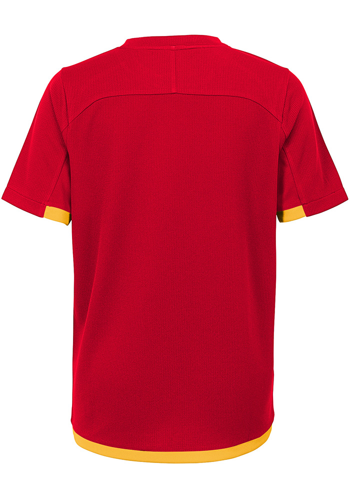 Kansas City Chiefs Youth Red Circuit Breaker Short Sleeve T-Shirt - Image 2