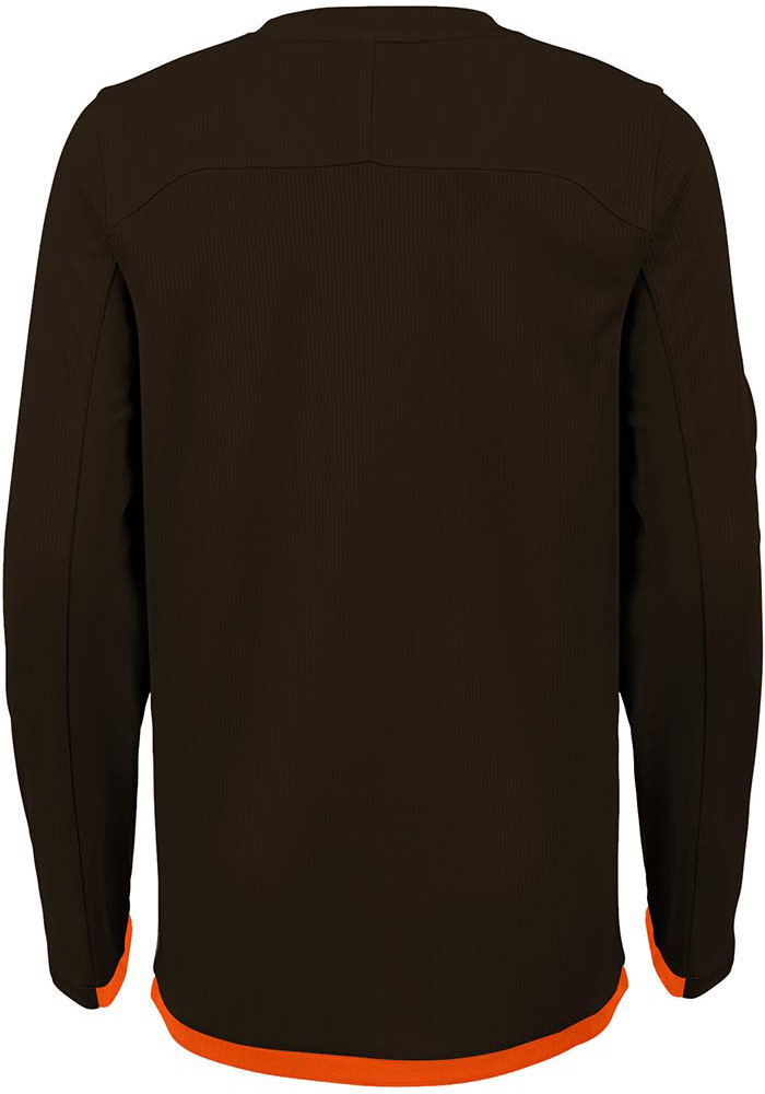 Cleveland Browns Youth Brown Mainframe Long Sleeve T-Shirt - Image 2