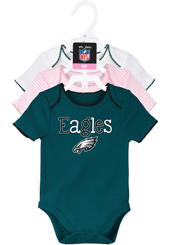 Philadelphia Eagles Baby Teal 3 Pack One Piece dc947a517