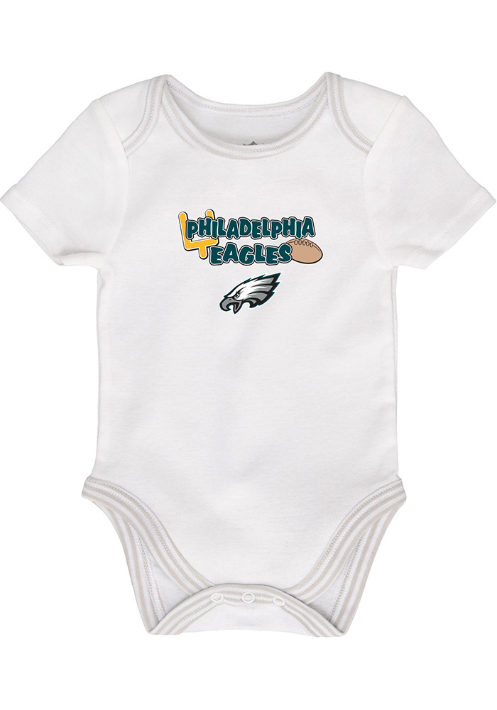 Philadelphia Eagles Baby Teal 3rd Down-Layette One Piece - Image 2