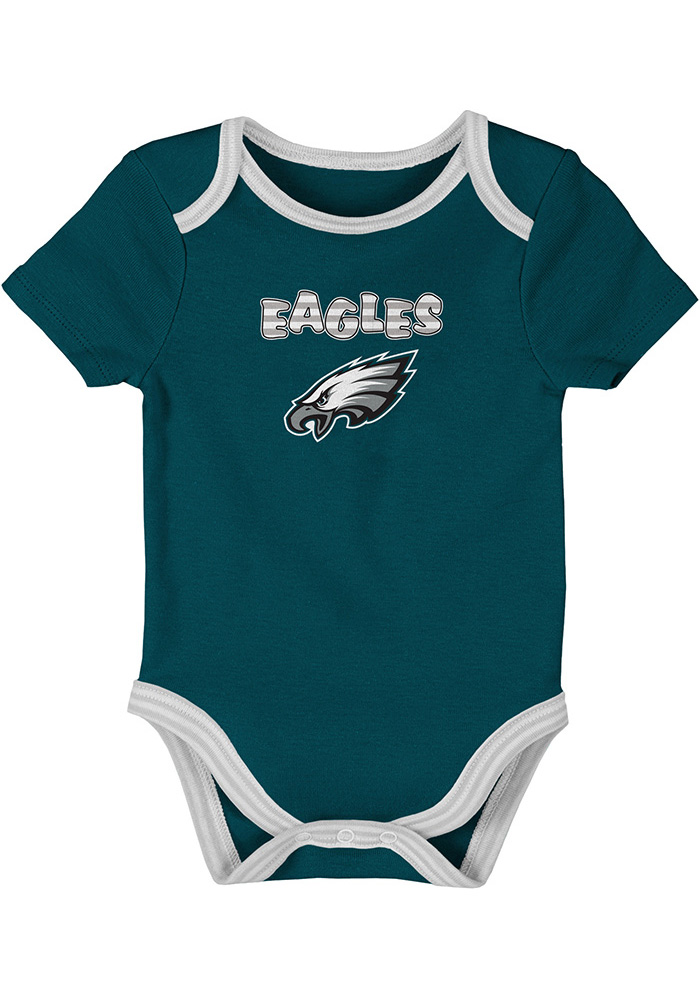 Philadelphia Eagles Baby Teal 3rd Down-Layette One Piece - Image 4