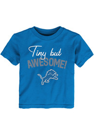 Detroit Lions Infant Tiny But Awesome Script T-Shirt - Blue